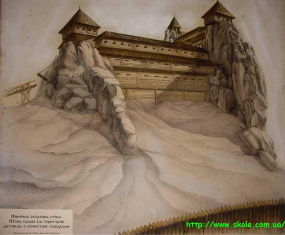 Фортеця Тустань - Північна оборонна стіна