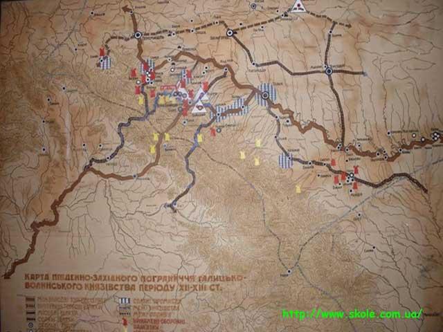 Карта пд.зх. Галицького Князівства