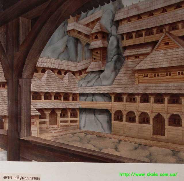 Тустань - внутрішній двір
