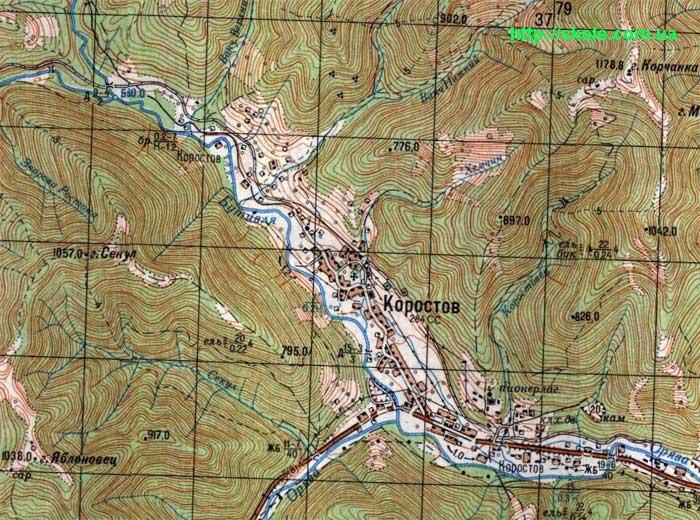 Карта Коростова