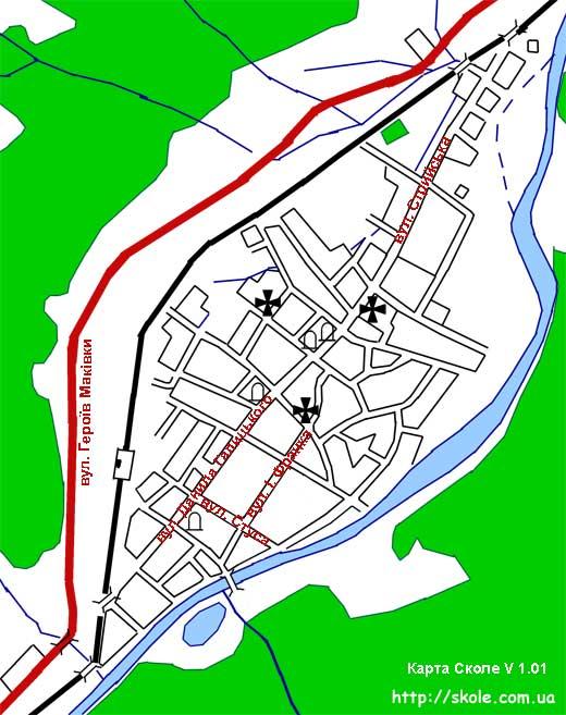 Карта Сколе