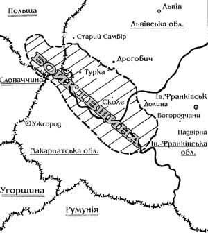 Карта розселення бойків